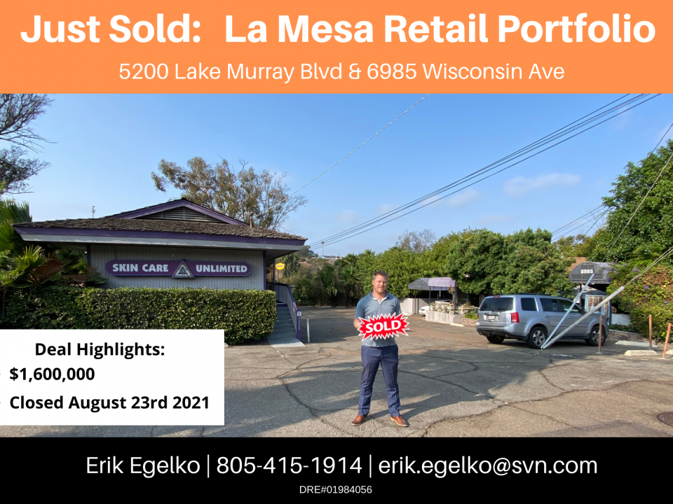 Mixed Use Property Sold in La Mesa